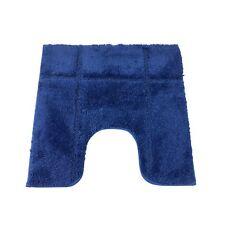 BORDERED ROYAL BLUE 1600GSM MICROFIBRE ANTI-SLIP PEDESTAL MAT 50 X 50CM