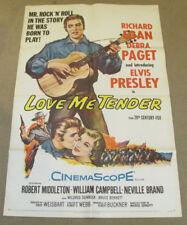 Elvis Presley 20th Century Fox Love Me Tender 1 One Sheet Poster Original 1956