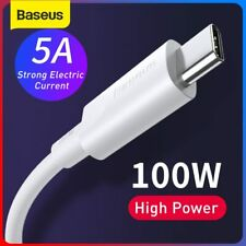 Baseus 100W Type C to USB C Charger Cable PD Fast Charging Lead for MacBook Pro