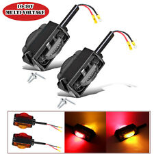 2PCS Truck Trailer 14LED Tail Light Stop Rear Turn Indicator Reverse Signal Lamp