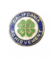 Vintage California Bankers Assn 4H Achievement Lapel Pin Pinback