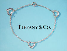 Tiffany & Co Elsa Peretti Sterling Silver 3 Open Heart Bracelet