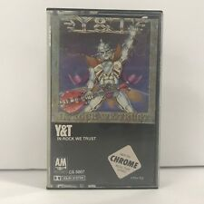 Y&T In Rock We Trust, Chrome Cassette 1984 A&M Records Yesterday and Today