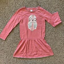 GYMBOREE COZY FAIRYTALE MED WEIGHT SWEATER DRESS W/ OWL SZ 10 EUC