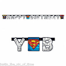 SUPERMAN Man of Steel Boys Superhero Happy Birthday Party JOINTED LETTER BANNER