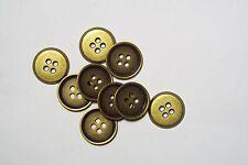 8pc 17mm Antique Gold Metal Shirt Blazer Coat Cardigan Kid Button 2790