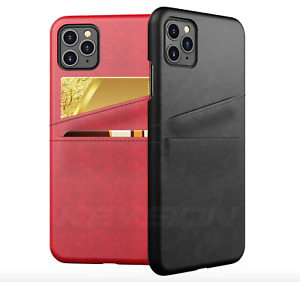 Luxury Premium PU Leather Card Slot Holder Phone Case Cover for iPhone 11
