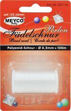 Polyamidfaden Polyamidschnur 0,2mm Perlen-/Schmuck-Fädelschnur 100m weiß 937-10