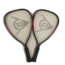Dunlop Pair Of Red and Black 3 7/8� Racquetball Rackets Euc