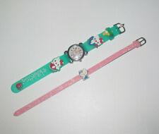 Lot Bracelet Rose Starss + Montre Hello Kitty Verte
