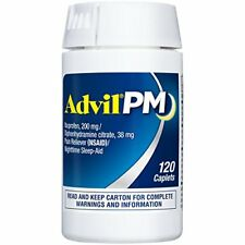 Advil PM (120 Count) Pain Reliever/Nighttime Sleep Aid Caplet, 200mg Pre-order