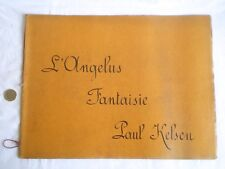 ANCIENNE PARTITION MANUSCRITE L'ANGELUS FANTAISIE PAR PAUL KELSEN