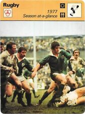 1978 Sportscaster Card Rugby 1977 Season At-A-Glance #25-13 NRMINT.