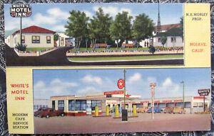 Vintage White's Motel Inn & Service - Mojave, CA - Curteich Linen Postcard