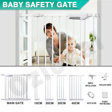 Adjustable Pet Kid Safety Gate Security Stair Barrier Door Extension 76cm tall