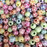 50 x Mixed Football / Soccer Pony Beads 12mm Dummy Clips, Loom Bands