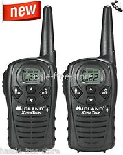 Midland Walkie Talkie Two Way Radio 22 Channel 18 Mile Range Hunting Scan Pair