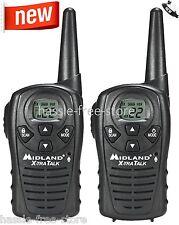Midland Walkie Talkie Two Way Radio 22 Channel 18 Mile Range Hunting Scan Pair