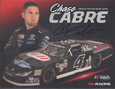 "SIGNED 2018 CHASE CABRE ""HONDA GENERATORS"" #4 NASCAR WHELEN LATE MODEL POSTCARD"