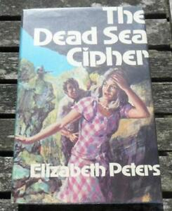 The Dead Sea Cypher Elizabeth Peters 1970 hbdj 1st edition Cassell UK.
