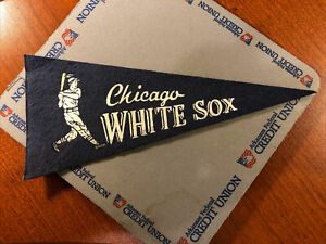 1960's Vintage 4x9 Chicago White Sox Mini Pennant Flannel