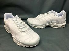 Nike Men's Air Max Plus Running Sneakers Leather White Size 10 DISPLAY MODEL!