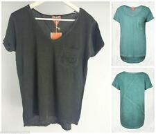 Lockre Sitzende Damenblusen,-Tops & -Shirts mit Baumwolle ohne Muster für Freizeit