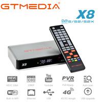 HD Receptor de TV vía satélite DVB-S/S2/S2X GTMEDIA X8 FTA caja de satélite,WIFI