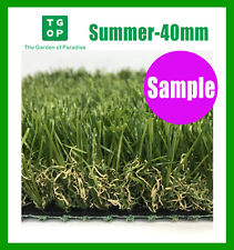 Sample Only!  Summer 40mm 4 Tone Artificial Grass Synthetic Turf  Lawn Carpet