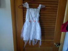 Girls Princess fairy fancy dress costume size 2T-5T in white with pastel accent