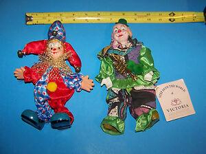 Clown Figures / Dolls  ( Jester & Trumpet Clown)