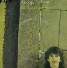 "George Harrison(7"" Vinyl)All Those Years Ago-Dark Horse-K 17807-UK-1981-VG/Ex"