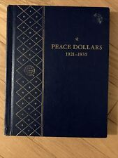 Whitman BOOKSHELF Album #9430 Peace Dollars 1921-1935 vintage coin book folder