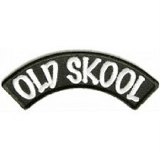 OLD SKOOL SMALL ROCKER IRON ON PATCH