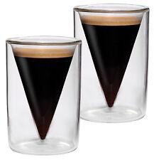 2x 70ml doppelwandige Thermo Espresso-, Shot- Schnapsgläser im Spitzglasdesign