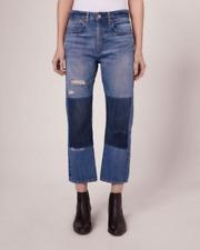 Rag & Bone Marilyn Buckle Back Jean Size 28 Patchwork Boyfriend Cropped NWT NEW