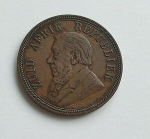 SOUTH AFRICA 1894 Penny Copper Coin