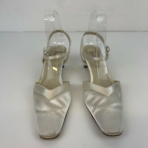 Rainbow Club Women's Bridal Spool Heel Square Toe White Ivory Shoes UK 5