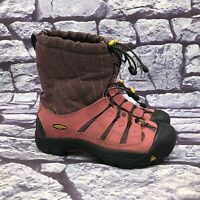 Keen Girls Pink Waterproof Insulated Toggle Hiking Winter Snow Boots Youth Sz 5