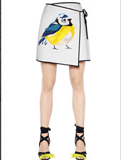 MSGM Bird Print Wrap Skirt Size:40/4 NWT
