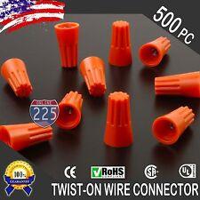500 Orange Twist On Wire Connector Connection Nuts 22 14 Gauge Barrel Screw