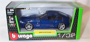 BMW Z4 M Coupe in Blue  1:32 Scale Diecast  burago New in Box 43007