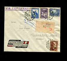 Zeppelin Sieger 355var1936 7th South America Flight  PERU POST LZ 127  No cachet