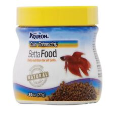 Aqueon Color Enhancing Betta Food .95oz Free Shipping