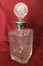 More details for vintage glass & silver plate 1.5 pint (750ml) decanter
