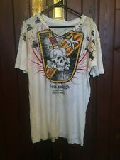 SILVER STAR WHITE T-SHIRT SIZE LARGE BRAND NEW MADE IN USA