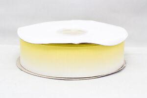 "Bright Yellow Gradient Ombre 38mm 1.5"" Grosgrain Ribbon per meter"