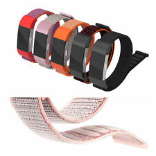 For Fitbit Charge 2 Bands Nylon Magnet Bands Fitness Bracelet with Metal Clasp