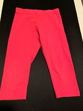 WONDER NATION SOLID RED PANTS COTTON SPANDEX GIRLS KIDS SIZE S/CH 6-6X