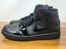 Nike Mujeres Air Jordan 1 Mid Triple Negro BQ6472 003 Talla 8.5 Nuevo